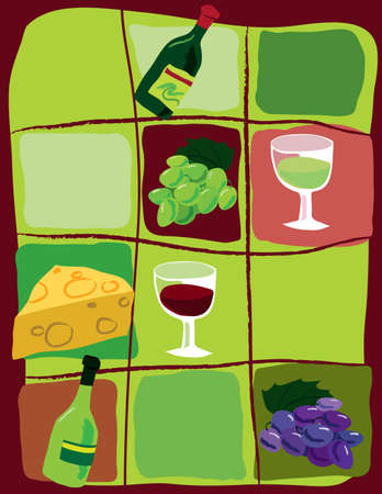 scalable: Wine related symbols. Scalable vector graphics in format