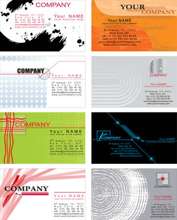 Set of business cards. Just paste your name! Vector