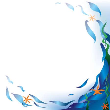 algas marinas: Vector de fondo con motivos del mar. Compruebe que m�s fondos creativos en mi cartera.