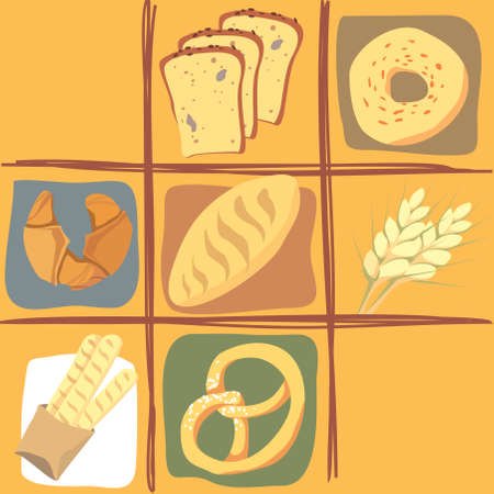 All about bread Stock Vector - 5588220