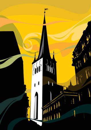 Church in Tallinn, medieval European architecture