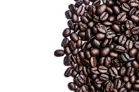 antecedents: coffee beans on the white background