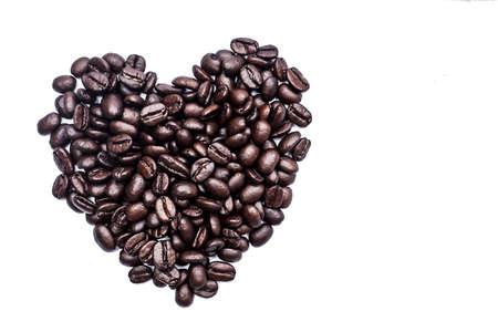 applicable: coffee beans on the white background