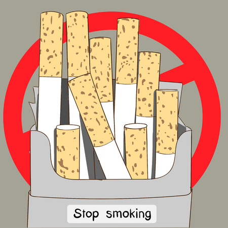 Uncooked cigarette packages are another sign that all the world's people stop smoking.World No Tobacco Day