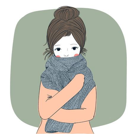 Cute winter girl.