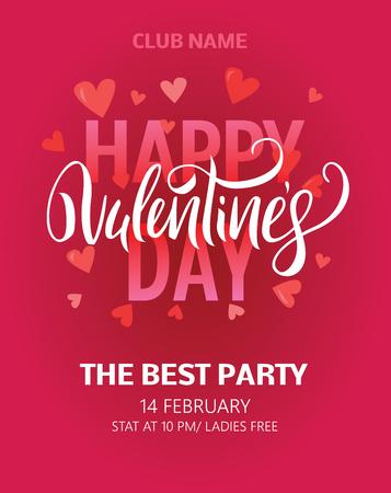 Valentines Day Party Flyer. Vector illustration EPS8 Vector Illustration