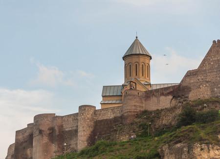tbilisi: The ancient Narikala fortress, Tbilisi, Georgia Stock Photo