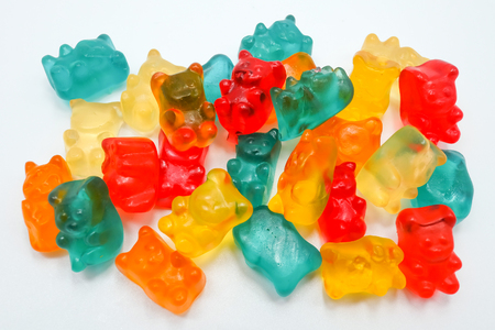 jelly bears, isolated on a white background Stock Photo