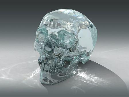 psychisch: 3D-model van een menselijke Crystal Skull, beweerde te zijn van pre Meso-Amerikaanse oorsprong  Stockfoto