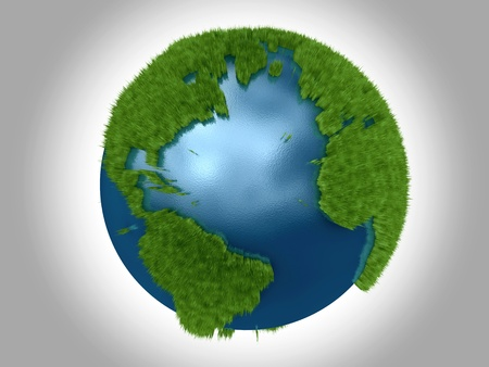 Green Planet - The Atlantic Ocean bordered by North Central South America, and Africa Europe Stock Photo
