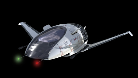 interstellar: Drone design of alien spacecraft for science fiction backgrounds, interstellar space travel or futuristic military battleship war games  Clipping path is included in the  jpg file