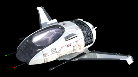 Drone design of alien spacecraft for science fiction backgrounds, interstellar space travel or futuristic military battleship war games  Clipping path is included in the  jpg file