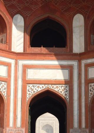 architectural details: Taj Mahal gate architectural details