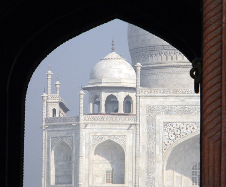 Iconic Taj Mahal mausoleum in Agra, India