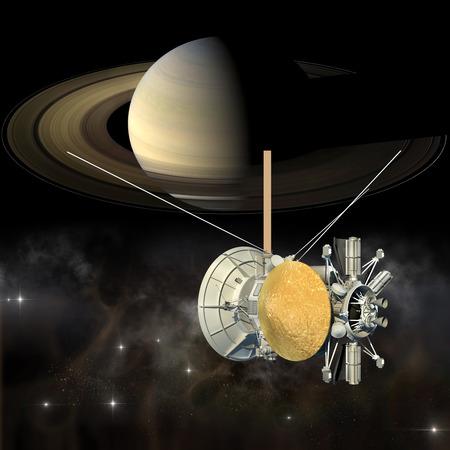 Resultado de imagen de La nave no tripulada Cassini-Huygens