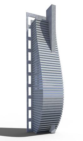 サイエンス ・ フィクションやファンタジーの背景、jpg ファイルに含まれている分離作業パスを持つ高層未来都市建築
