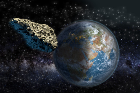 asteroid: Asteroid on a collision course with Earth.