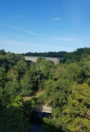 rock creek: Aerial view of the Rock Creek park in Washington DC, USA