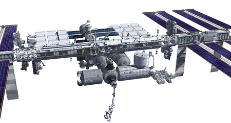 3D Rendering of the zenith side of the International Space Station