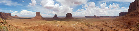 Monument Valley panorama from the Navajo Nation Tribal Park, on the Arizona-Utah border, USA 写真素材