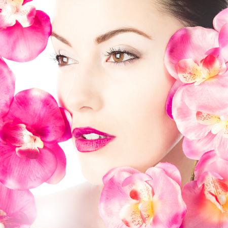 makeup eyes: Model beauty Stock Photo