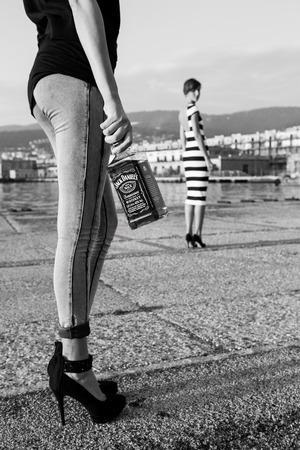 daniels: Friuli Venezia Giulia, Italy Trieste Sept 27.2014: Photo Jack Daniels  Shooting Test Editorial