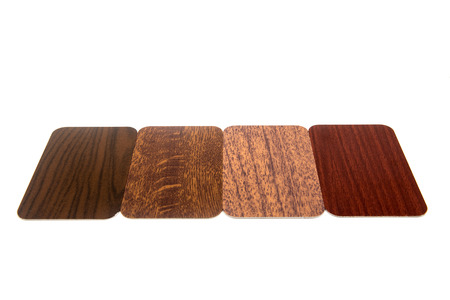 cicuta: Driving wood-colored aluminum material, the Champions wooden Choice on white background.