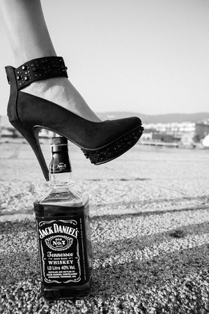 ITALY, Friuli Venezia Giulia, Trieste 27 September 2014, Jack Daniels, a brand of the best-selling American whiskey in the world, Redakční