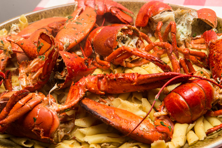 very good Italian cooked with pasta in lobster sauce