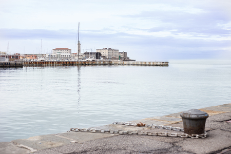 beautiful coastal landscape and marina Stock Photo