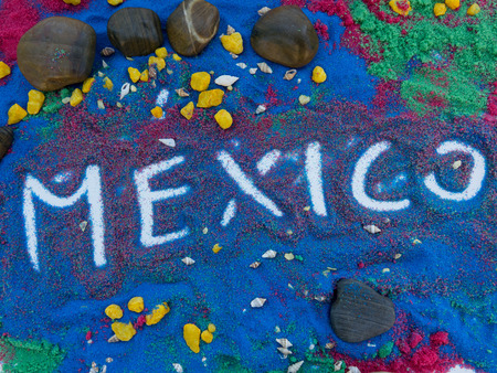 written on colorful sand and fantasy