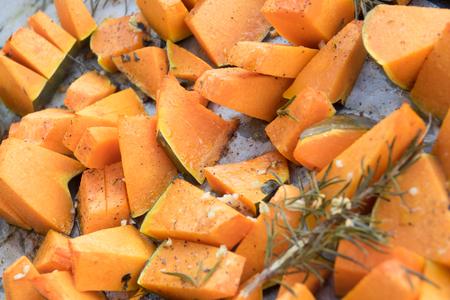 Roasted and Chopped Pumpkin