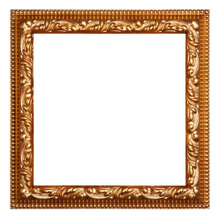 empty picture frame isolated on white 스톡 사진