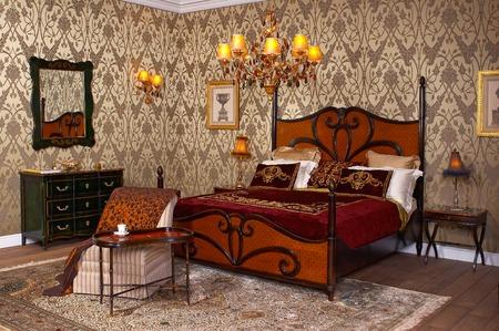 Interior a royal bedroom Banque d'images