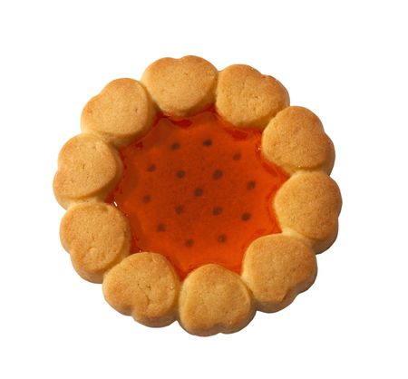 Biscuit isolated on white with clipping path 스톡 사진