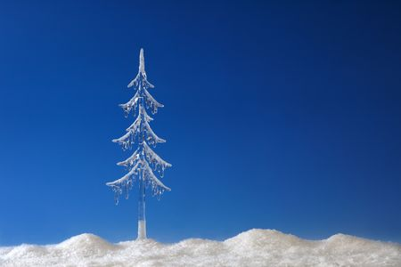 Christmas fir tree from icicle photo