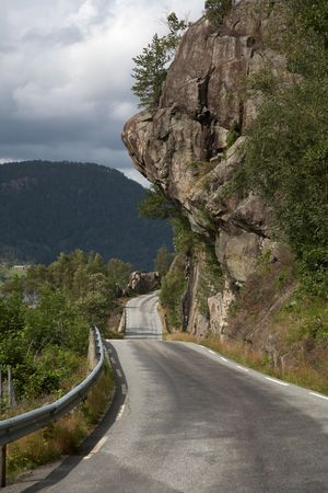 Mountain road to southern Norway 스톡 사진