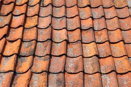 Terracotta roof tiles Architectural details Banque d'images