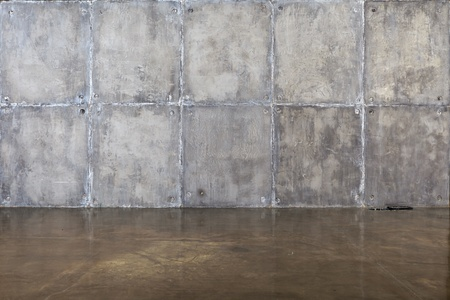 concrete room: A concrete wall and floor for background