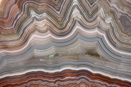 The polished cut of agate