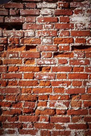 old brick wall: Brick wall old exterior