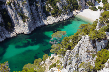 Calanques dEn Vau near Cassis, Provence, South of France