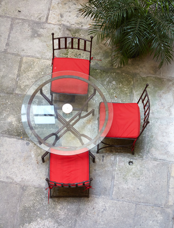 Street forged table and chairs