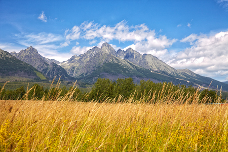 A view of the Slovak High Tatras