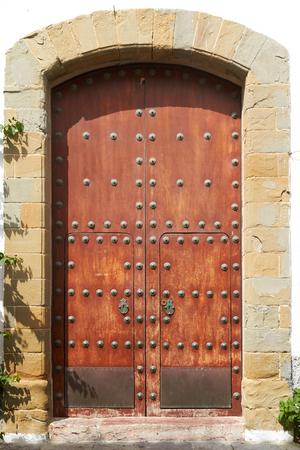 Ancient door in the Moorish style. Europe, Spain