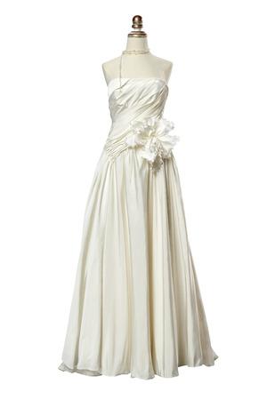 Studio shooting Wedding dress Isolated On White