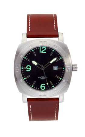 Silver wrist watch isolated Banque d'images