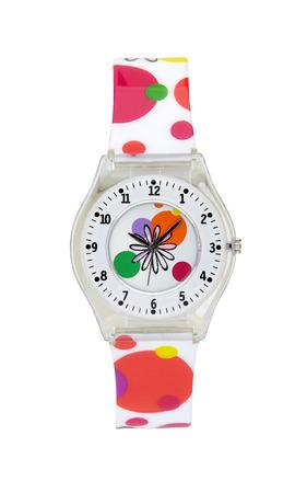 Plastic wrist watch isolated