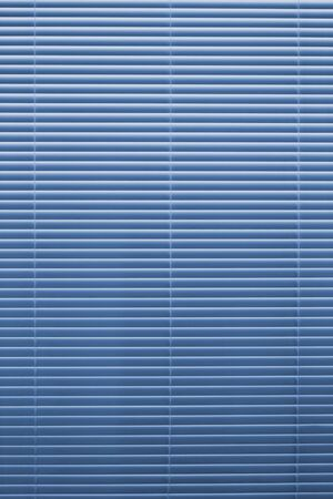 Horizontal background blinds blue aluminum back light gradient Banque d'images