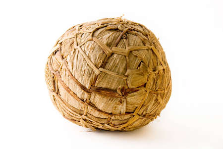 ingenious: African soccer ball made of banana leaves for kids games
